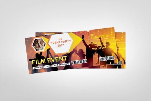DJ Event Ticket Design