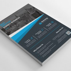 PSD Dark Business Flyer Templates