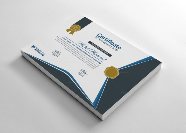 EPS Certificate Template