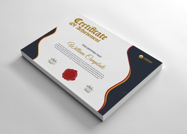 University Achievement Certificate