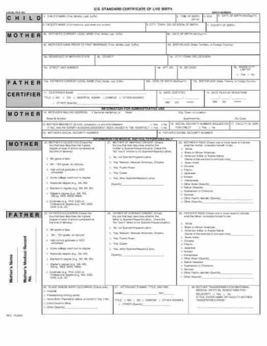 Birth Certificate Template 29641