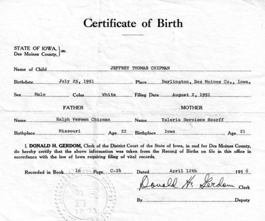 Birth Certificate sample 12.461
