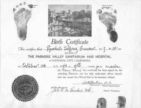 Birth Certificate sample 13.641