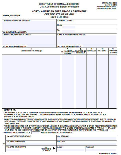 41 Free Certificate of Origin Templates in Word Excel PDF