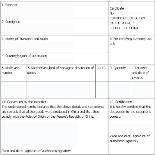 Certificate of Origin example 26.941
