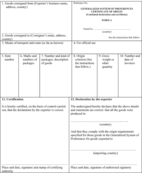 Certificate of Origin example 69741