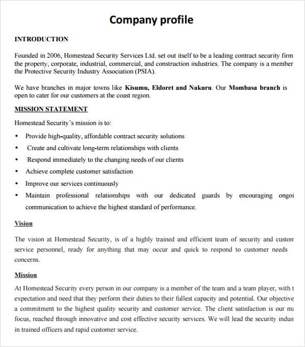 Company profile example 7941