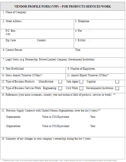 country profile template