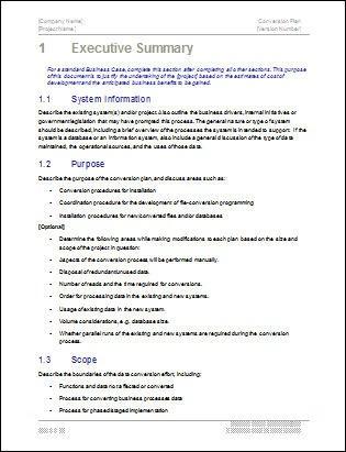 Executive Summary Example 10.641  Microsoft Word Executive Summary Template