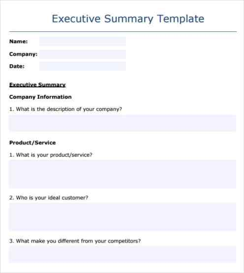 what is a executive summary