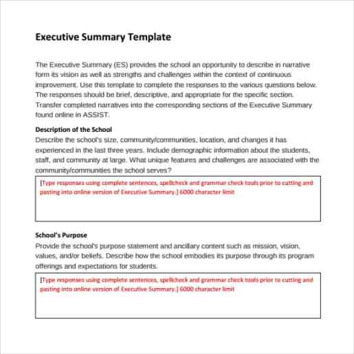 Free Executive Summary Templates In Word Excel Pdf