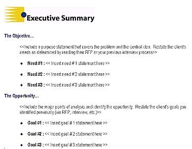 executive briefing template