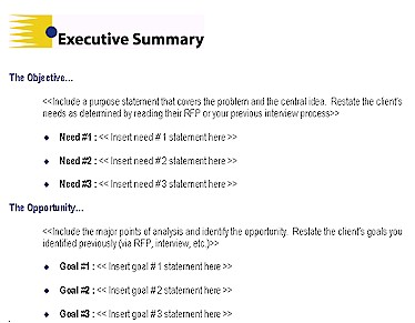 Executive Summary Example 6941  Executive Briefing Template