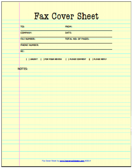 Fax Cover Sheet Templates 441