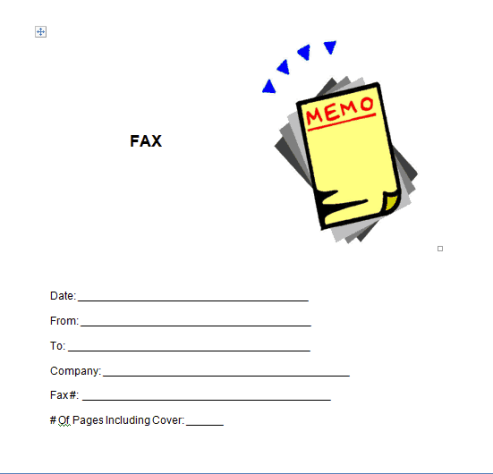 Fax Word Template 341