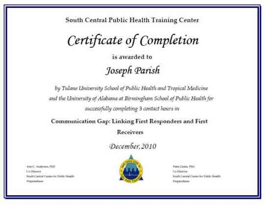 Free Certificate of Completion example 21.4961