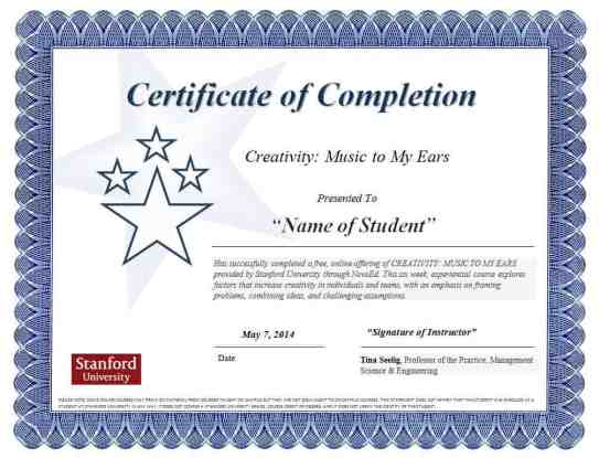 Free Certificate of Completion example 24.7946