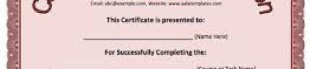 Free Certificate of Completion example 5941
