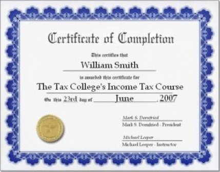 Free Certificate of Completion example 897461