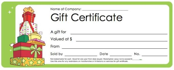 free gift coupon template