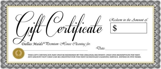Free Gift Certificate sample 15.641