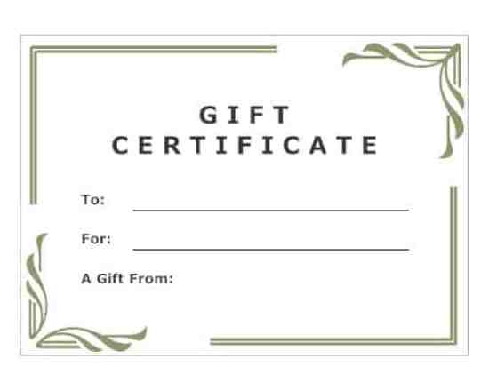 Free Gift Certificate sample 26.9641