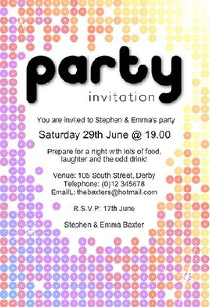 Free Party Invitation Template 49741
