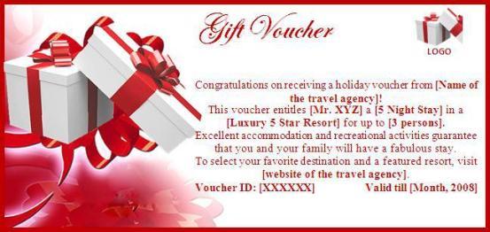 Gift Voucher Template 39461
