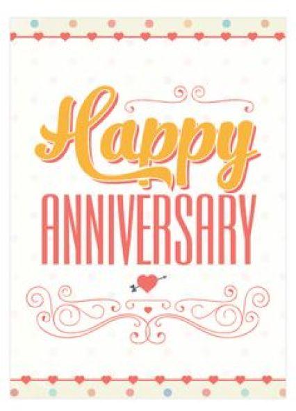Happy Anniversary Card example 9841
