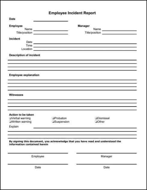 21+ Free Incident Report Template - Word Excel Formats