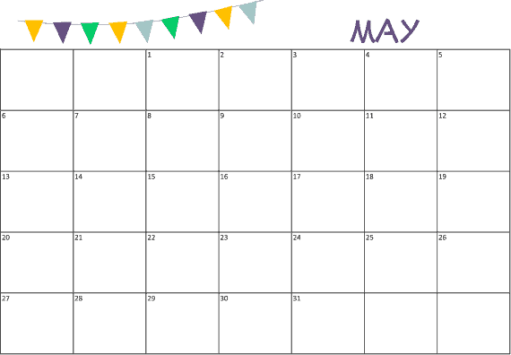 Monthly Calendar Sample 16.64