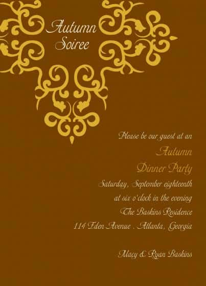 Party Invitation example 2941