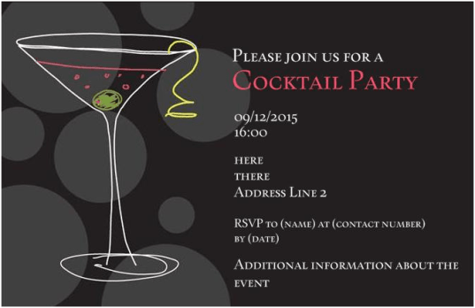 Party Invitation example 39641