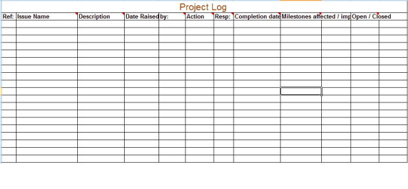 Project Log sample 7641