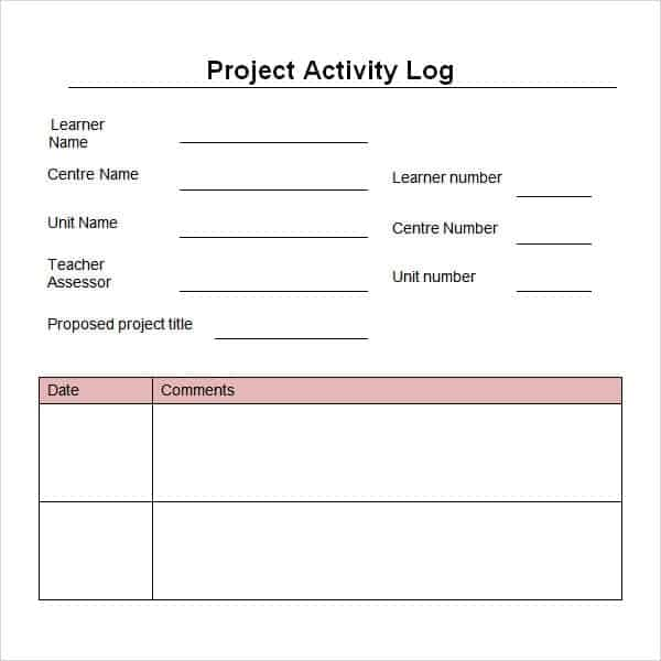 Word Project Log