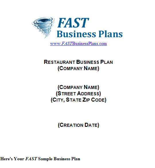 Restaurant Business Plan Template 1461