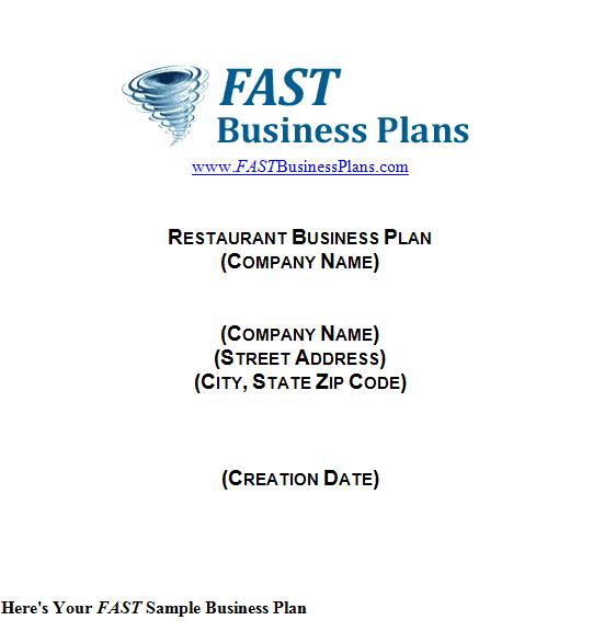 Sample Full Service Restaurant Business Plan