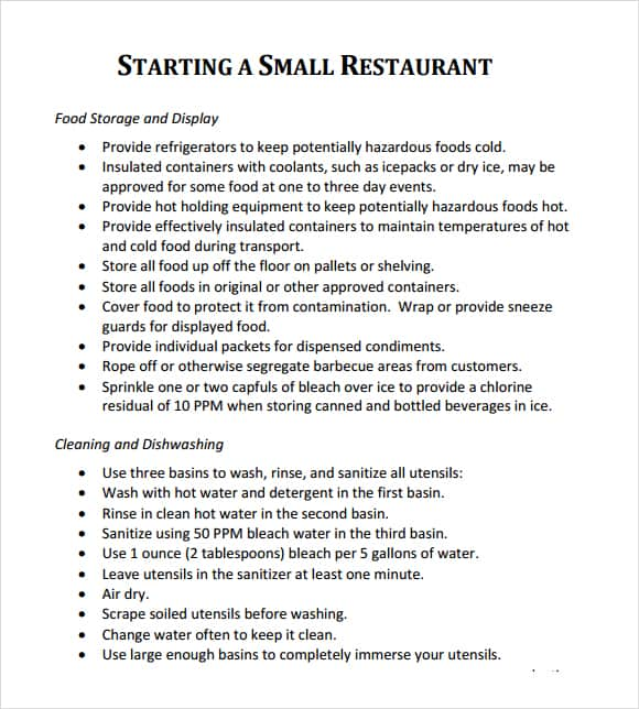 32 free restaurant business plan templates in word excel pdf cheaphphosting Gallery