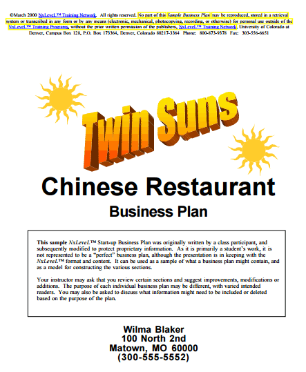 Restaurant Business Plan example 20.641
