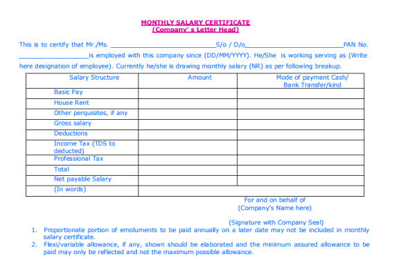 21 free salary certificate template word excel formats salary certificate template 4974 download yadclub Gallery