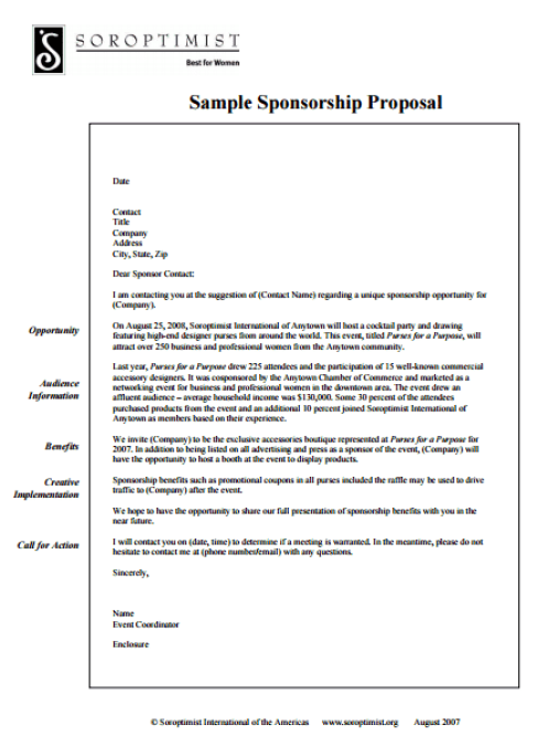 Sponsorship Proposal Template 3941