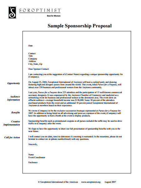 Amazing Sponsorship Proposal Template 3941