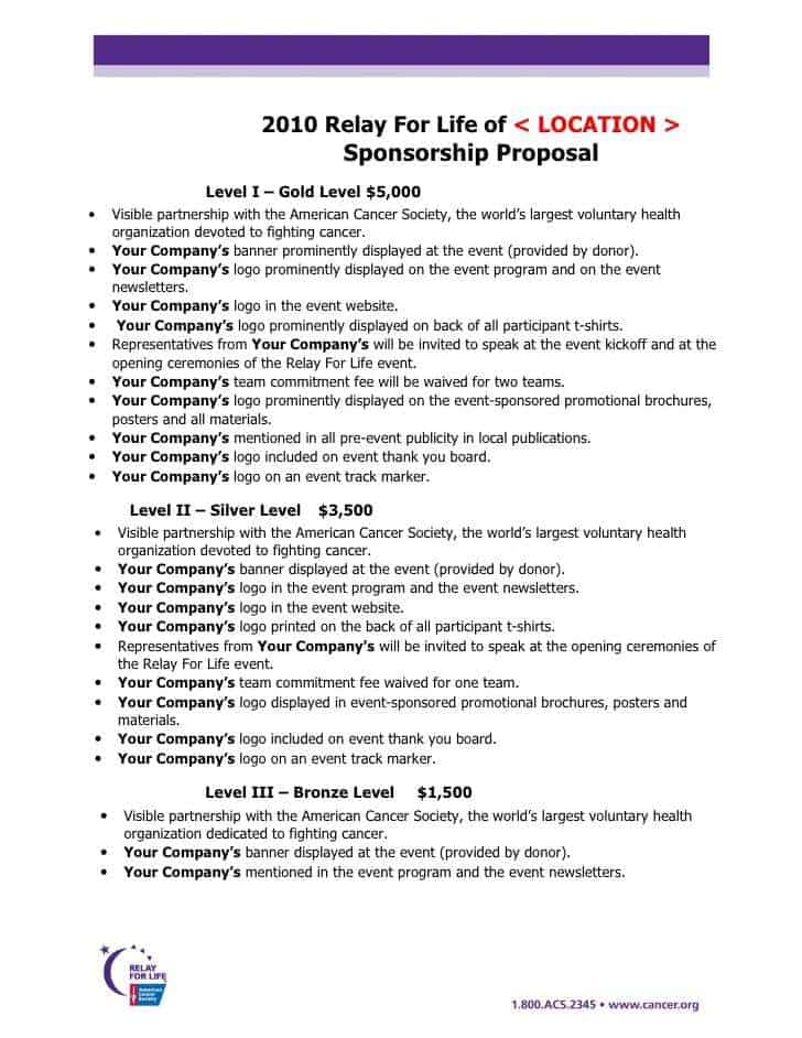 Sponsorship Proposal Sample 19841  How To Write A Sponsor Proposal