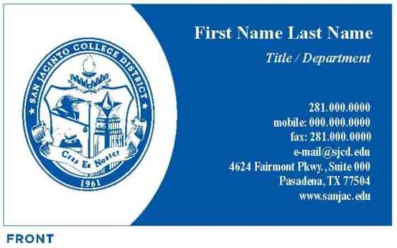 Visiting Card example 11.461