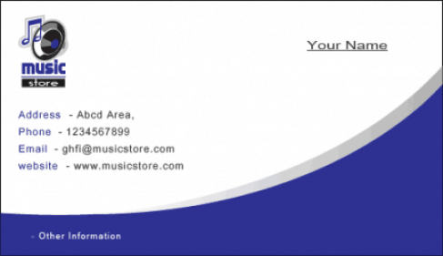 Visiting Card example 17.461