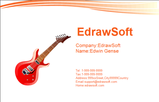 Visiting Card example 69641