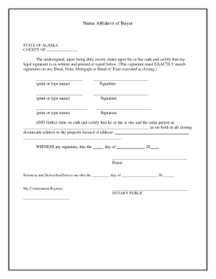 affidavit form example 2694