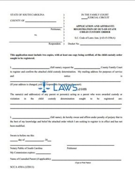 Free Affidavit Form Templates In Word Excel Pdf