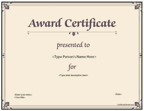 Certificate sample award certificate sample 5741 clip 21 free 21 free award certificate template word excel formats yadclub Image collections
