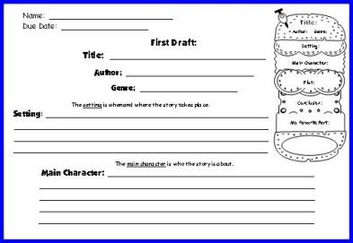 book report template 74